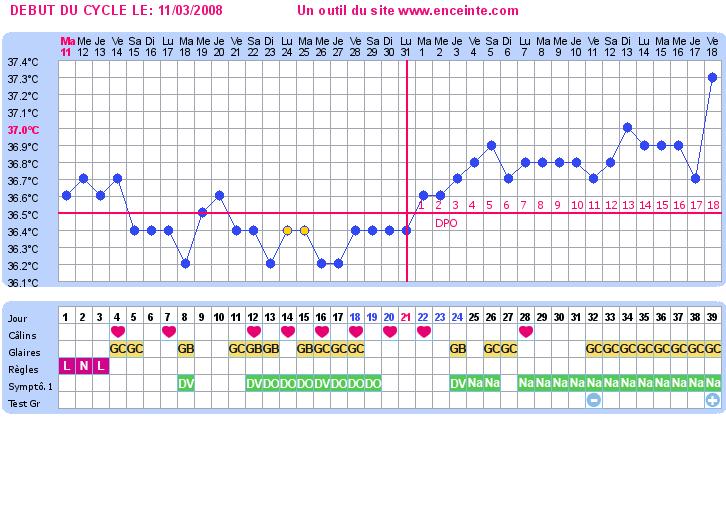 Exemples de courbes de température