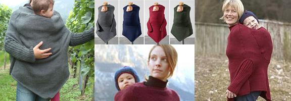 a15ebf01848 Il comporte deux ouvertures une pour la tête de la maman et l autre pour le  bébé. Il est tricoté avec une très fine laine (IVN et Oekotex Standard 100)  qui ...