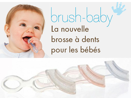 la brosse dents pour b b brush baby actufraise. Black Bedroom Furniture Sets. Home Design Ideas